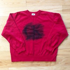 Vintage red painted Calvin Klein Jeans sweatshirt